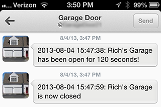 Garage Door Tweeting